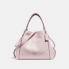 Image of Coach Australia SV/ICE PINK EDIE SHOULDER BAG 28 WITH SCALLOPED DETAIL