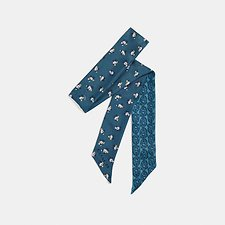 Image of Coach Australia CHAMBRAY SIGNATURE CHAIN MONOGRAM SKINNY SCARF