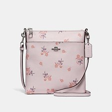 Picture of MESSENGER CROSSBODY WITH FLORAL BOW PRINT