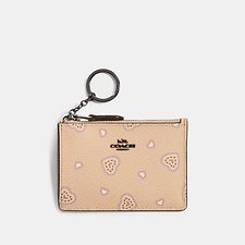 Image of Coach Australia DK/BEECHWOOD WESTERN HEART MINI SKINNY ID CASE WITH WESTERN HEART PRINT