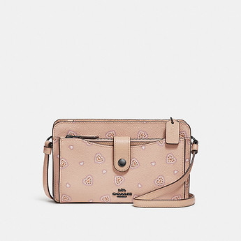 Image of Coach Australia  POP-UP MESSENGER WITH WESTERN HEART PRINT