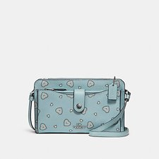 Image of Coach Australia SV/LIGHT TURQ WESTERN HEART POP-UP MESSENGER WITH WESTERN HEART PRINT