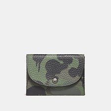 Image of Coach Australia SURPLUS SNAP CARD CASE WITH WILD BEAST PRINT