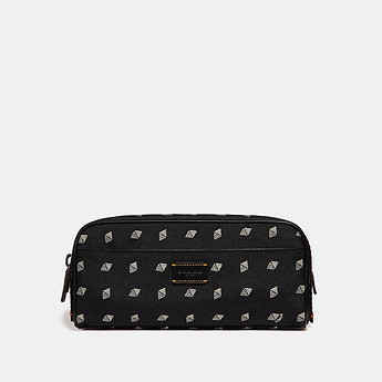 Image of Coach Australia  DOPP KIT WITH DOT DIAMOND PRINT