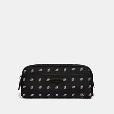 Image of Coach Australia BLACK/CHALK DOPP KIT WITH DOT DIAMOND PRINT