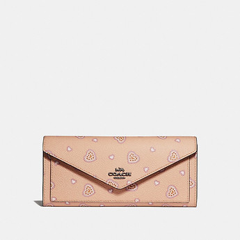 Image of Coach Australia  SOFT WALLET WITH WESTERN HEART PRINT