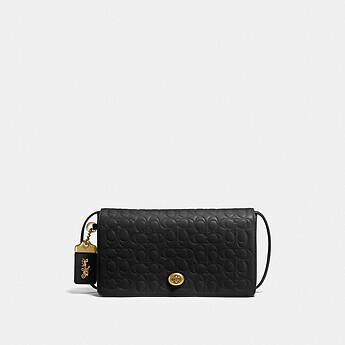 Image of Coach Australia  DINKY IN SIGNATURE LEATHER