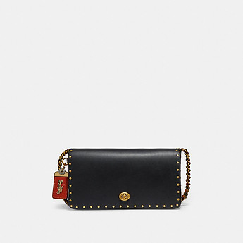 Image of Coach Australia  DINKY WITH BORDER RIVETS AND SNAKESKIN DETAIL