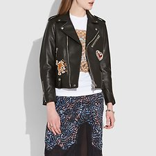 Image of Coach Australia BLACK COACH X KEITH HARING MOTO JACKET