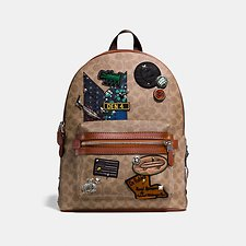 Picture of COACH X KEITH HARING ACADEMY BACKPACK IN SIGNATURE PATCHWORK