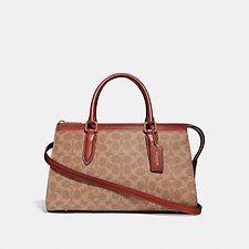 Image of Coach Australia B4/TAN RUST BOND BAG IN SIGNATURE CANVAS
