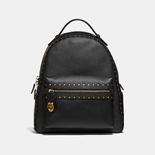 Image of Coach Australia B4/BLACK CAMPUS BACKPACK WITH RIVETS