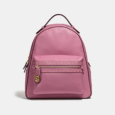 Image of Coach Australia B4/ROSE CAMPUS BACKPACK WITH RIVETS
