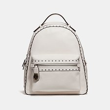 Image of Coach Australia BP/CHALK CAMPUS BACKPACK WITH RIVETS