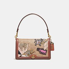 Picture of COACH X KEITH HARING RILEY IN SIGNATURE PATCHWORK