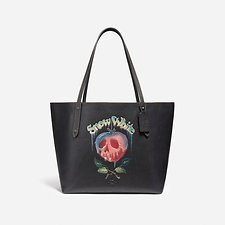 Picture of DISNEY X COACH MARKET TOTE WITH POISON APPLE GRAPHIC