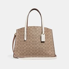 Image of Coach Australia B4/CHALK CHARLIE CARRYALL IN SIGNATURE CANVAS