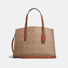 Image of Coach Australia B4/RUST CHARLIE CARRYALL IN SIGNATURE CANVAS