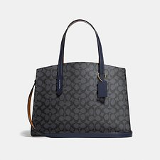 Image of Coach Australia LI/CHARCOAL MIDNIGHT NAVY CHARLIE CARRYALL IN SIGNATURE CANVAS