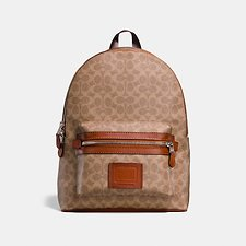 Image of Coach Australia JI/KHAKI ACADEMY BACKPACK IN SIGNATURE CANVAS