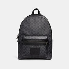 Image of Coach Australia QB/CHARCOAL ACADEMY BACKPACK IN SIGNATURE CANVAS