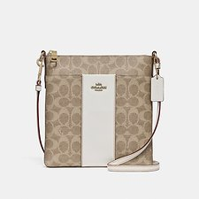 Picture of MESSENGER CROSSBODY IN COLORBLOCK SIGNATURE CANVAS