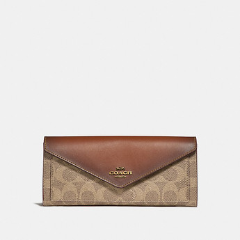 02e56376986b4 Image of Coach Australia SOFT WALLET IN COLORBLOCK SIGNATURE CANVAS
