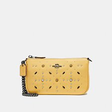 Image of Coach Australia BP/SUNFLOWER NOLITA WRISTLET 19 WITH PRAIRIE RIVETS DETAIL