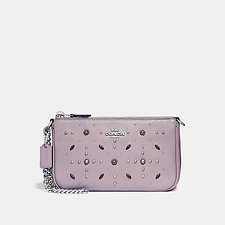 Image of Coach Australia SV/ICE PURPLE NOLITA WRISTLET 19 WITH PRAIRIE RIVETS DETAIL