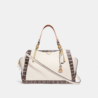 Image of Coach Australia  DREAMER 36 IN COLORBLOCK WITH GENUINE SNAKESKIN DETAIL