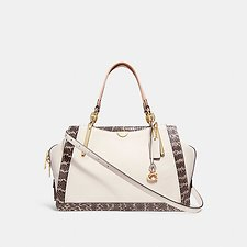 Image of Coach Australia LI/CHALK MULTI DREAMER 36 IN COLORBLOCK WITH GENUINE SNAKESKIN DETAIL