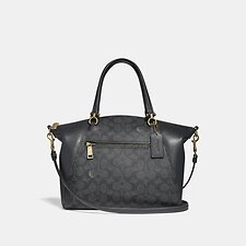 Image of Coach Australia LI/CHARCOAL MIDNIGHT NAVY PRAIRIE SATCHEL IN SIGNATURE CANVAS