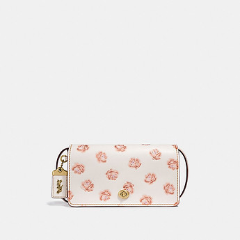 Image of Coach Australia  DINKY WITH GLITTER ROSE PRINT