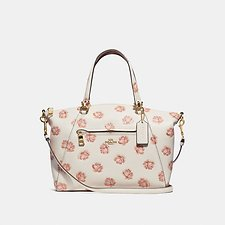 Image of Coach Australia LI/CHALK PRAIRIE SATCHEL WITH ROSE PRINT