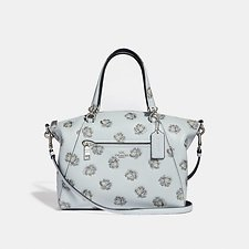 Image of Coach Australia SV/SKY PRAIRIE SATCHEL WITH ROSE PRINT