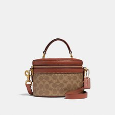 Image of Coach Australia B4/RUST TRAIL BAG IN SIGNATURE CANVAS