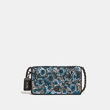 Image of Coach Australia BP/BLUE MULTI DINKY WITH LEATHER SEQUIN