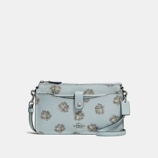 Image of Coach Australia SV/SKY ROSE PRINT POP-UP MESSENGER WITH ROSE PRINT