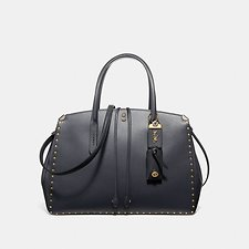 Image of Coach Australia B4/MIDNIGHT NAVY COOPER CARRYALL WITH BORDER RIVETS