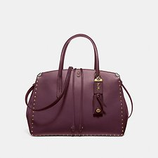 Image of Coach Australia B4/OXBLOOD COOPER CARRYALL WITH BORDER RIVETS