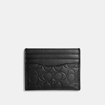 Image of Coach Australia  CARD CASE IN SIGNATURE LEATHER