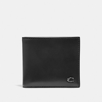 Image of Coach Australia  DOUBLE BILLFOLD WALLET WITH SIGNATURE HARDWARE