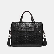 Image of Coach Australia QB/BLACK HUDSON 5 BAG IN SIGNATURE LEATHER