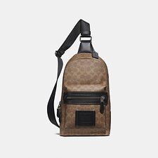 Image of Coach Australia JI/KHAKI ACADEMY PACK IN SIGNATURE CANVAS
