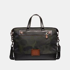 Image of Coach Australia JI/MILITARY ACADEMY HOLDALL IN CORDURA® FABRIC WITH WILD BEAST PRINT