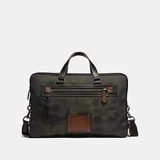 Image of Coach Australia JI/MILITARY ACADEMY DAY BAG IN CORDURA® FABRIC WITH WILD BEAST PRINT