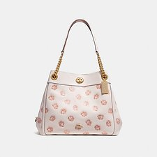 Image of Coach Australia LI/CHALK TURNLOCK EDIE SHOULDER BAG