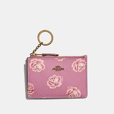 Image of Coach Australia B4/ROSE ROSE PRINT MINI SKINNY ID CASE WITH ROSE PRINT