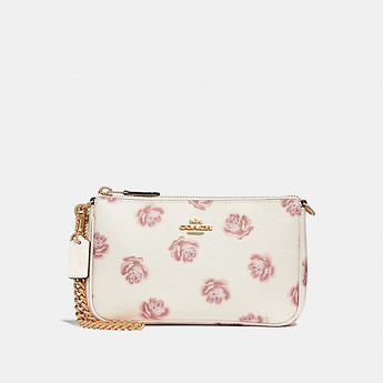 Image of Coach Australia  NOLITA WRISTLET 19 WITH ROSE PRINT