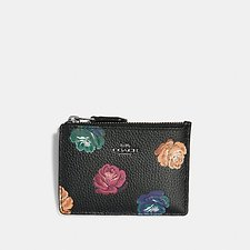 Image of Coach Australia DK/RAINBOW ROSE PRINT MINI SKINNY ID CASE WITH RAINBOW ROSE PRINT